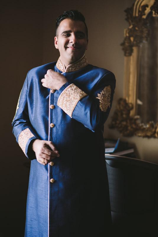 Ismaili groom getting ready