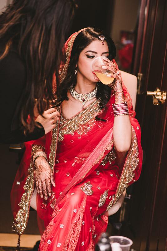 Bride Makeup touchups