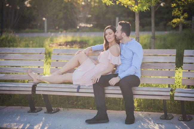 Toronto Engagement Photoshoot Trillium Park Waterfront