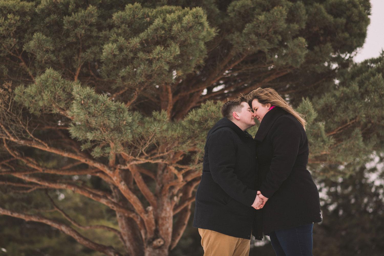 Beautiful Guelph Winter Engagement