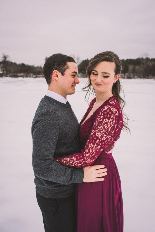 Beautiful Winter Engagement Photoshoot