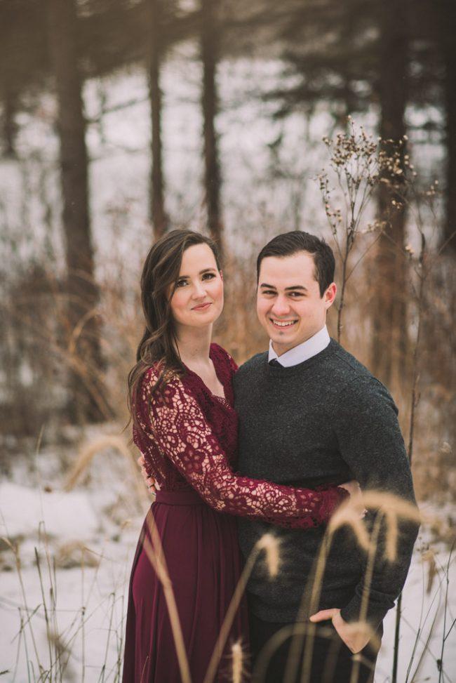Beautiful Winter Engagement Photoshoot Cambridge Kitchener