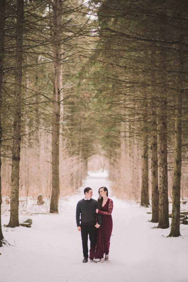 Winter engagement photography Guelph