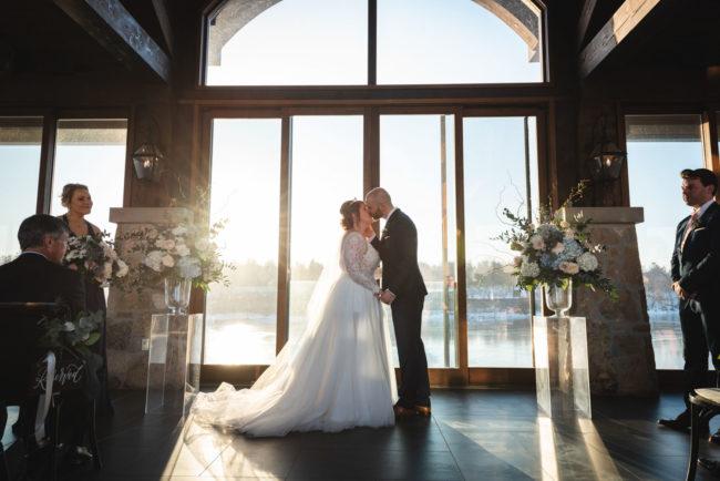 Winter Cambridge Mill Wedding Photography