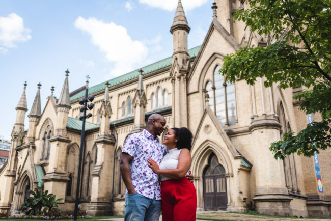 Cathedral Church of St James Engagement Photography Toronto