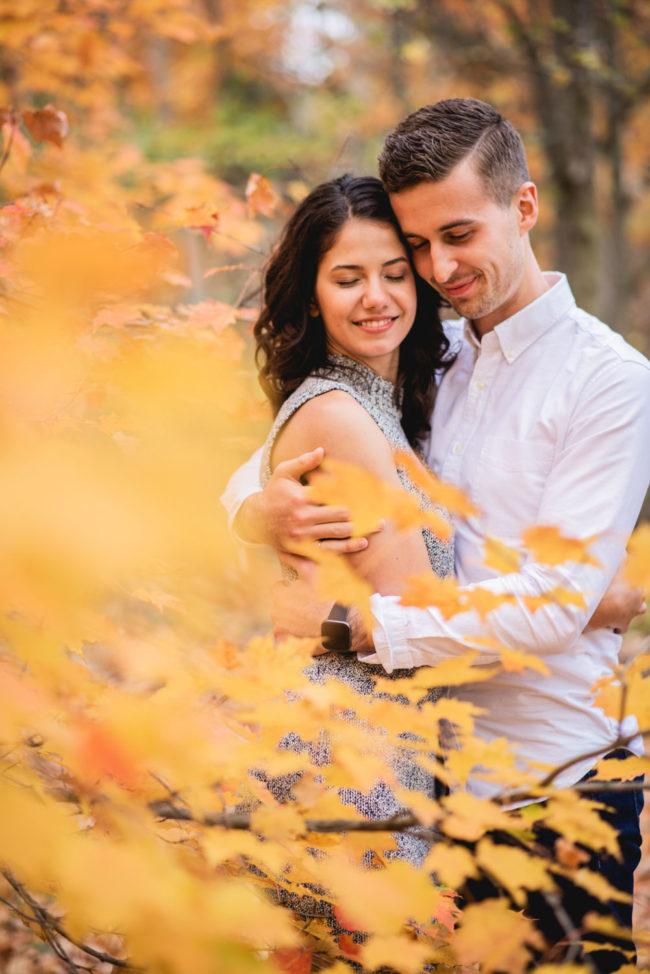 Colourful Autumn Engagement Photography