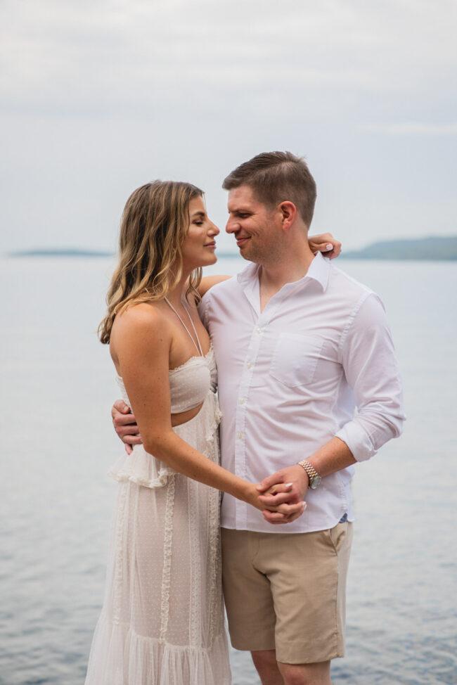 Romantic Cottage Boat Engagement Photography